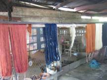 Weaving school - drying thread