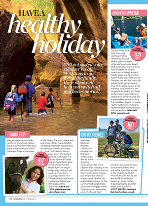 Healthy holidays: travel feature